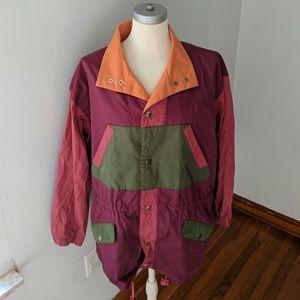 Vintage Izod Earth Tones Color Block Jacket